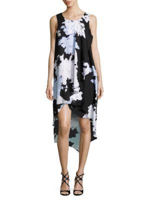 Sleeveless Floral-Print Asymmetric Dress by Mika & Gali