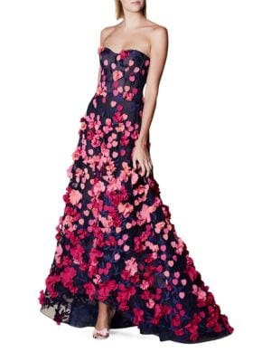 Heart & Floral Motif Gown by Marchesa Notte