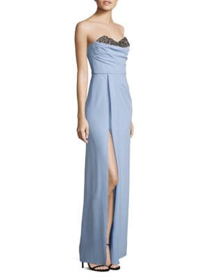 Embellished Strapless Gown by Marchesa Notte