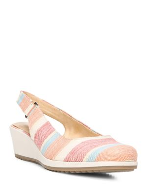 Bridget Striped Slingback Wedge Pumps by Naturalizer