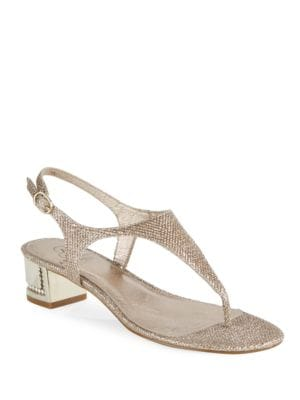Cassidy Embellished Thong Sandals by Adrianna Papell