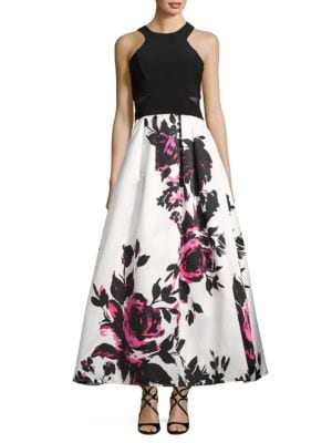 Floral Halter Gown by Xscape