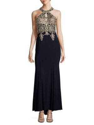 Halter Bodice Gown by Xscape