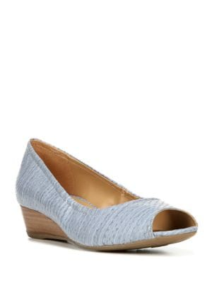 Diamond Patterned Wedge Pumps by Naturalizer
