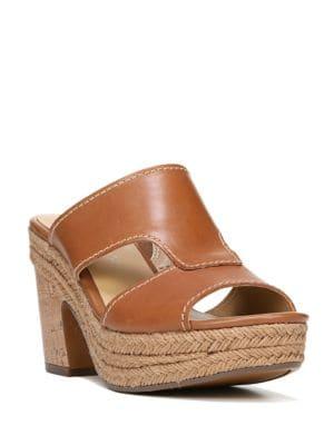 Evette Leather Platform Sandals by Naturalizer