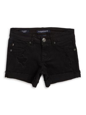 Girls Denim Stretch Shorts