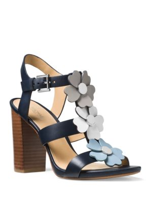 Kit Leather Stacked Heel Sandals by MICHAEL MICHAEL KORS