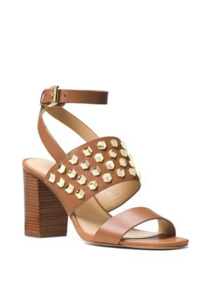 Valencia Leather Ankle Strap Sandals by MICHAEL MICHAEL KORS