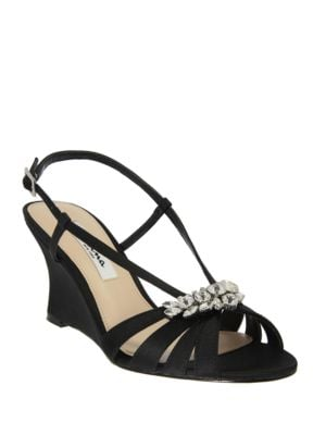 Viani Satin Wedge Sandals by Nina