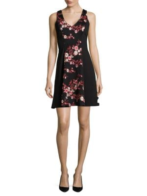 Mesh Sequin Sleeveless Dress by Belle Badgley Mischka