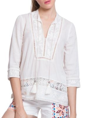 Embroidered Cotton Tunic by Plenty by Tracy Reese