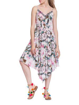 Floral-Print Asymmetric Dress by Plenty by Tracy Reese