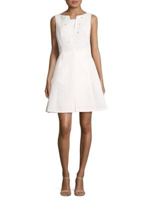 Textured Sleeveless Dress by Tahari Arthur S. Levine