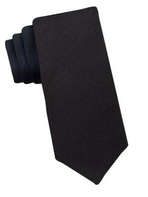Silk-Blend Tie by Calvin Klein