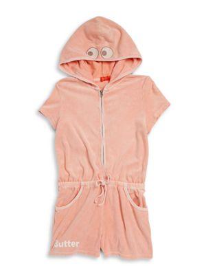 Girls Zip Front Cotton Hoodie