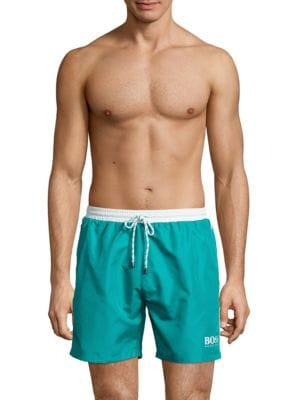 Contrast Drawstring Swim Trunks by HUGO BOSS