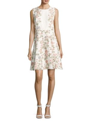Sleeveless Floral Dress by Karl Lagerfeld Paris