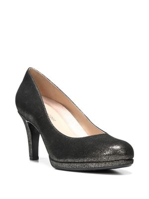 Michele Metallic Leather Platform Pumps by Naturalizer