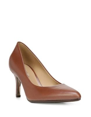 Natile Leather Point Toe Heels by Naturalizer