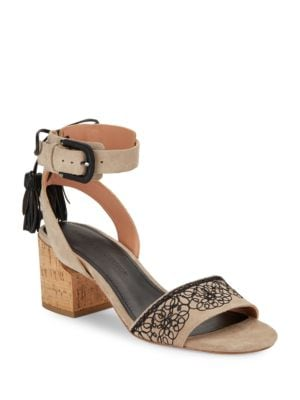 Riva Embroidered Ankle Strap Sandals by Sigerson Morrison
