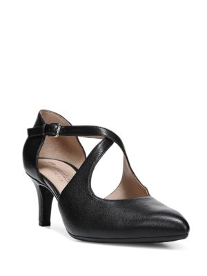 Okira Crisscross Strap Leather Dress Pumps by Naturalizer