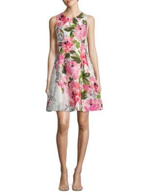 Floral Fit and Flare Dress by Xscape