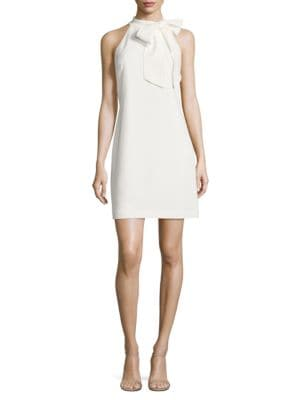 Solid Halterneck Bow Dress by Vince Camuto Plus