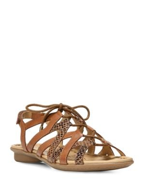 Whimsy Leather Ghillie-Tie Sandals by Naturalizer