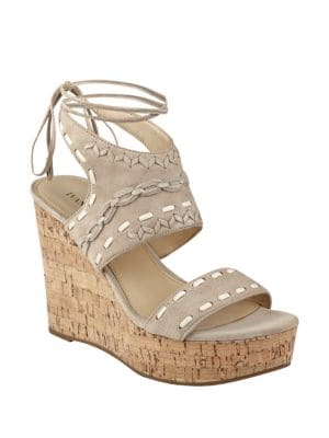 Zader Leather Platform Sandals by Ivanka Trump