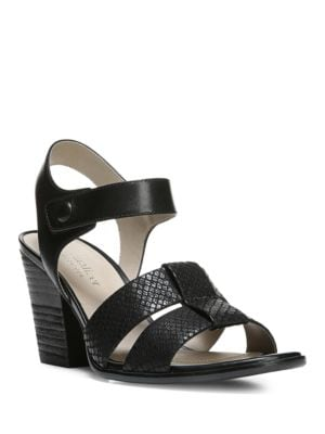 Buy Yolanda Leather Block Heel Sandals by Naturalizer online