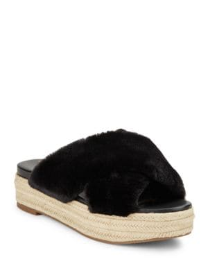 Zia Faux Fur Platform Sandals by Sam Edelman
