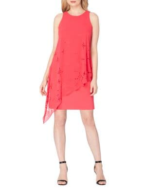 Plus Draped Chiffon Dress by Tahari Arthur S. Levine