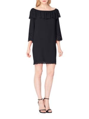 Draped Off-The-Shoulder Dress by Tahari Arthur S. Levine
