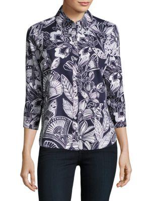Floral-Print Cotton Shirt...