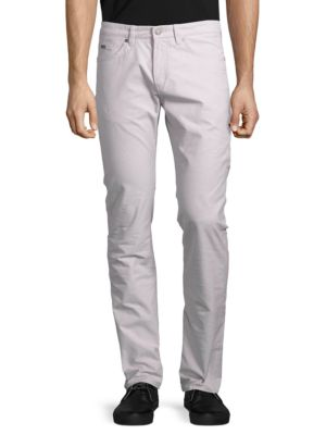 Delaware Slim Fit Stretch-Cotton Pants by HUGO BOSS