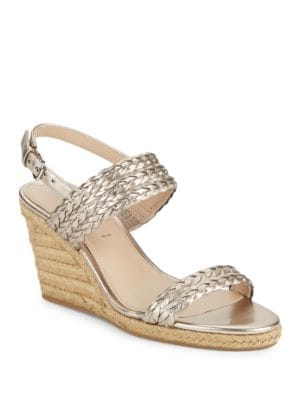 Indira Metallic Espadrille Wedge Sandals by Via Spiga