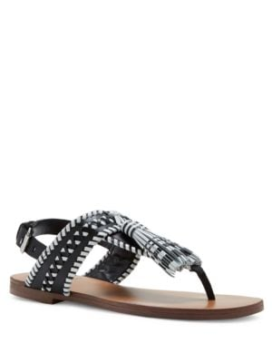 Rebeka Tasseled T-Strap Sandals by Vince Camuto