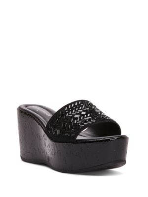 Cloesp Platform Wedge Embellished Sandals by Donald J Pliner