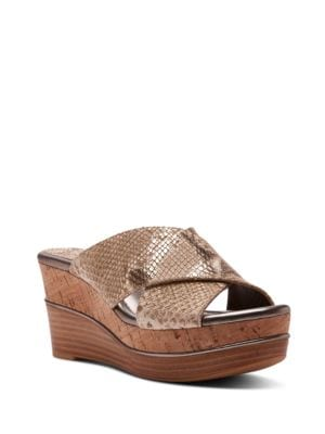 Dani Leather Platform Wedges by Donald J Pliner