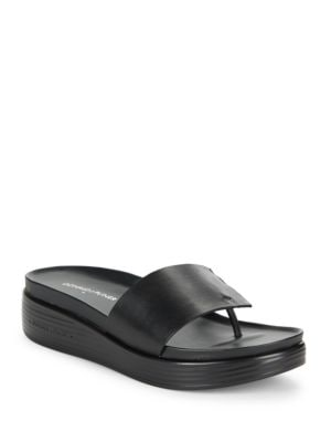 Fifi Leather Thong Sandals by Donald J Pliner