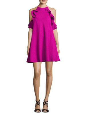Ruffled A-Line Dress by Badgley Mischka Platinum
