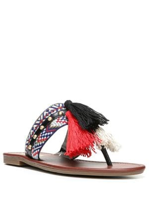 Brice Tasseled Thong Sandals by Circus by Sam Edelman