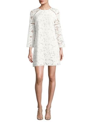 Long Sleeved Floral Lace Dress by Shoshanna