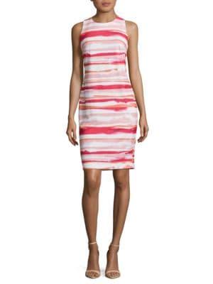 Photo of Calvin Klein Striped Sheath Dress