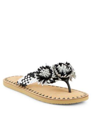 Idette Embellished Leather Flip-Flops by Kate Spade New York