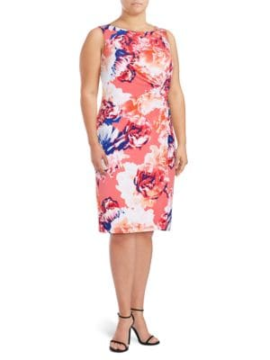 Floral Sheath Dress by Badgley Mischka Platinum