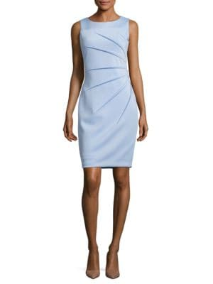 Pleated Sheath Dress by Calvin Klein