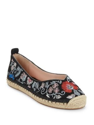 Gisella Embroidered Suede Espadrilles by Avec Les Filles
