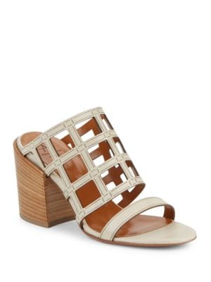 Frederica Leather Cutout Sandals by Aquatalia