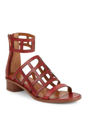 Rianna Leather Cage Sandals by Aquatalia